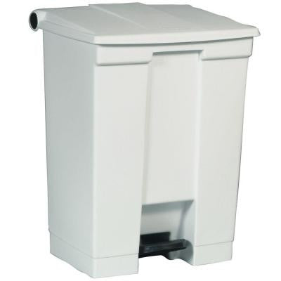 18 Gal. White Fire-Safe Step-On Trash Can