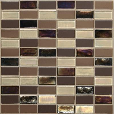 Coastal Keystones Treasure Island 12 in. x 12 in. x 6 mm Glass Mosaic Floor and Wall Tile