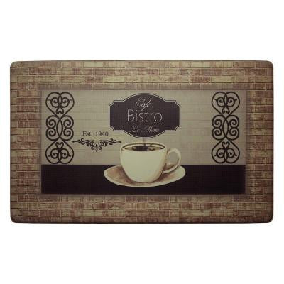 Cafe Bistro 20 in. x 32 in. Extra Thick Premium Gel Comfort Kitchen Mat