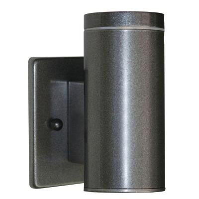 Riga 1-Light Anthracite Outdoor Cylinder Wall Light