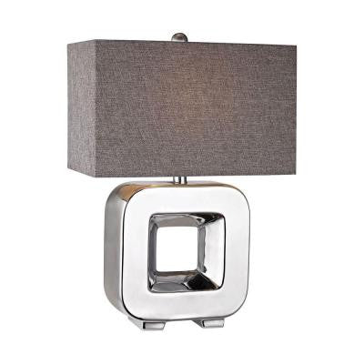 Orly 22 in. Chrome Plating Table Lamp with Shade