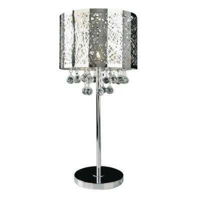 Xavier 25.6 in. Chrome Table Lamp
