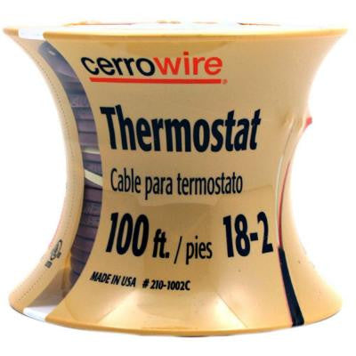 100 ft. 18-Gauge 2 Conductor Thermostat Wire