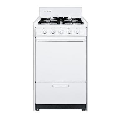 20 in. 2.5 cu. ft. Gas Range in White