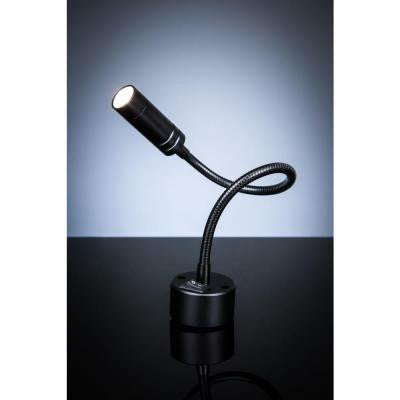 TASC Black LED Wall Mount Plug In Work Light