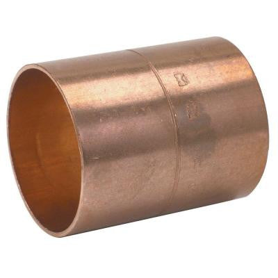 3/4 In. Copper Pressure C x C Coupling with Rolled Stop (25-Pack)