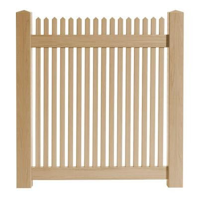 4 ft. x 4 ft. Cedar Grove Natural Cedar Vinyl Picket Fence Gate
