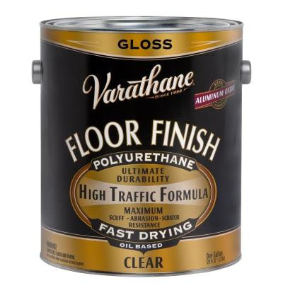 1 gal. Clear Gloss 350 VOC Oil-Based Floor Finish Polyurethane (Case of 2)