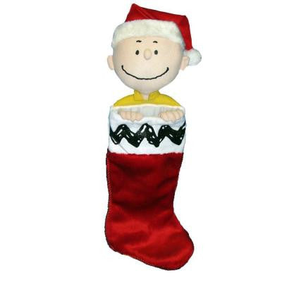 21 in. Charlie Brown Plush Head Stocking