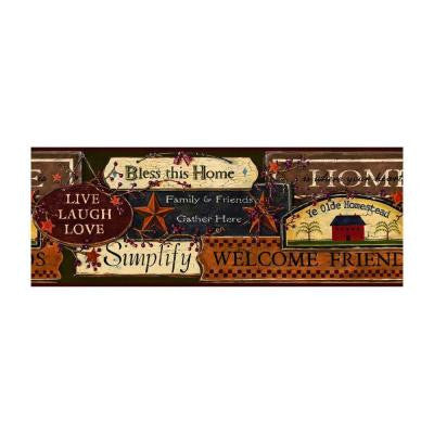 9 in. Country Sign Border