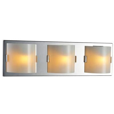 Luna Collection 3-Light Chrome Wall Vanity Light