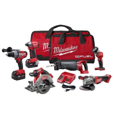 M18 Fuel 18-Volt Lithium-Ion Brushless Combo Kit (6-Tool)