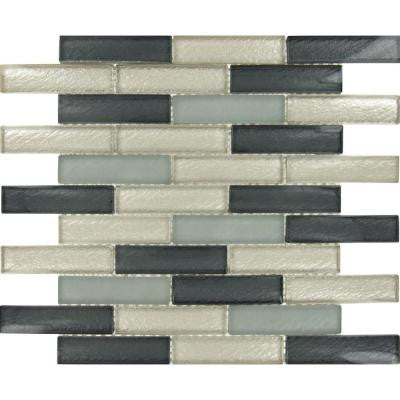 Cielo Brick 12 in. x 12 in. x 8 mm Glass Mesh-Mounted Mosaic Wall Tile (10 sq. ft. / case)