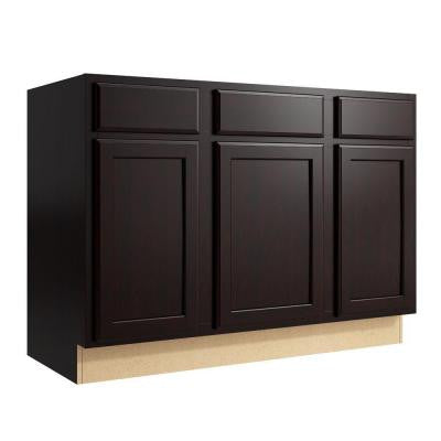 Stig 48 in. W x 34 in. H Vanity Cabinet Only in Coffee