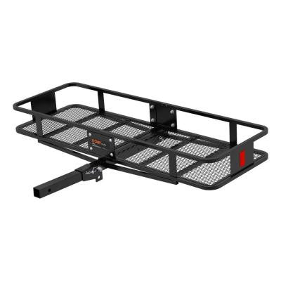 500 lbs. Capacity Basket-Style 20 in. Wide Cargo Carrier with 2 in. Folding Shank