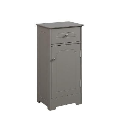 15.75 in. W x 11.75 in. D x 32 in. H Floor Linen Cabinet with 1-Drawer and 1-Door in Modern Gray
