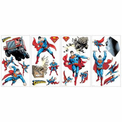 5 in. x 11.5 in. Superman Day of Doom Peel and Stick Wall Decals (21-Piece)