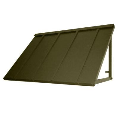 8.6 ft. Houstonian Metal Standing Seam Awning (104 in. W x 24 in. H x 36 in. D) in Olive