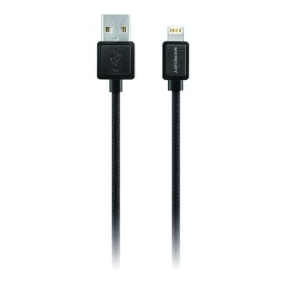 Threads 5 ft. Apple MFI Certified Lightning Fabric Cable with 8-Pin - Black