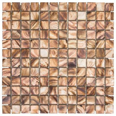 Duchess 11.75 in. x 12 in. x 8 mm Glass/Shell Mosaic Wall Tile