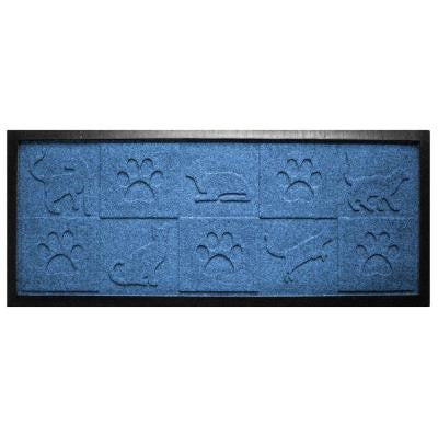 Aqua Shield Medium Blue 15 in. x 36 in. Cat in the Mat Boot Tray