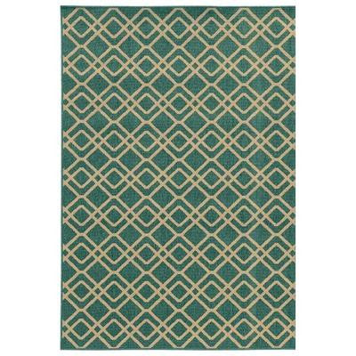 Lorenzo Turquoise 5 ft. 3 in. x 7 ft. 6 in. Area Rug