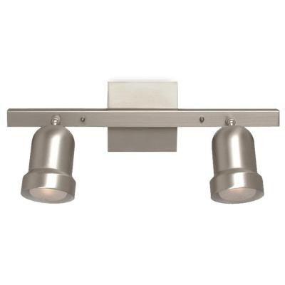 Negron 2-Light Pewter Track Lighting with Directional Heads