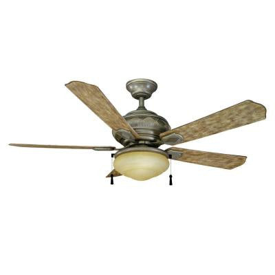 Portsmouth 52 in. Outdoor Cambridge Silver Ceiling Fan