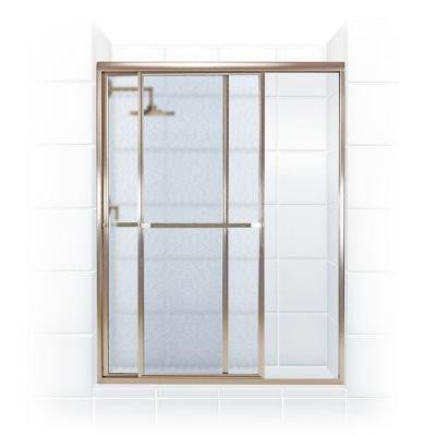Paragon Series 58 in. x 66 in. Framed Sliding Shower Door with Towel Bar in Brushed Nickel and Obscure Glass