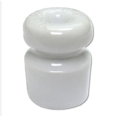 White Single Groove Porcelain Insulator