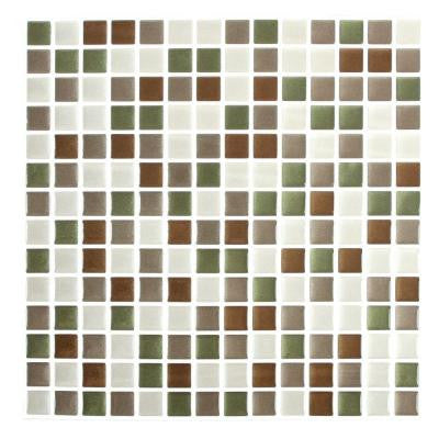 10 in. x 10 in. Shiny Comfort Square Adhesive Decorative Wall Tile (8-Pack)