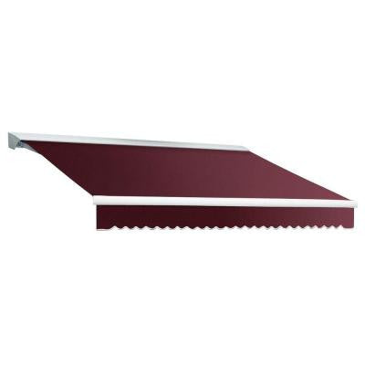 10 ft. DESTIN EX Model Manual Retractable with Hood Awning (96 in. Projection) in Burgundy
