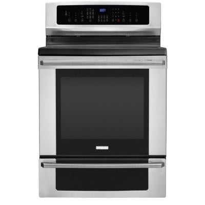IQ-Touch 6.0 cu. ft. Electric Induction Range with Self-Cleaning Convection Oven in Stainless Steel
