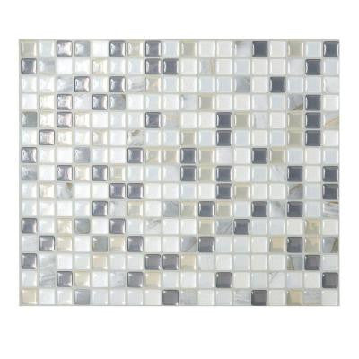 9.65 in. x 11.55 in. Peel and Stick Mosaic Decorative Wall Tile Minimo in Noche (6-Pack)