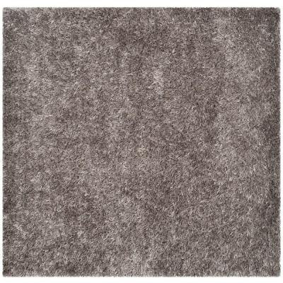 New Orleans Shag Grey/Grey 7 ft. x 7 ft. Area Rug