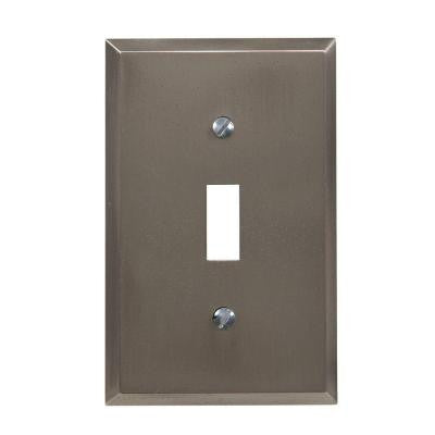 Manhattan 1 Toggle Wall Plate - Gun Metal Grey