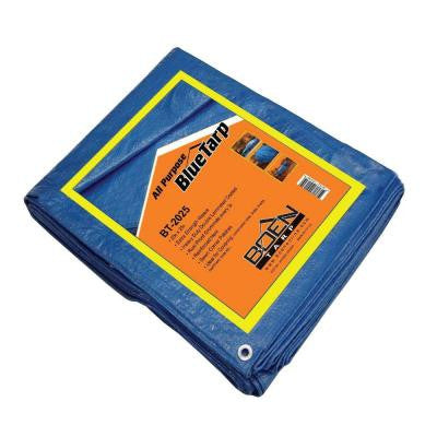 20 ft. x 25 ft. All Purpose Blue Tarp (4-Pack)