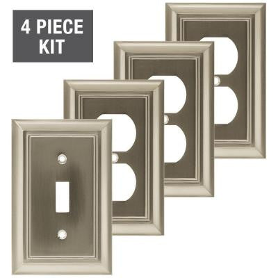 Wall Plate Starter Kit - Satin Nickel (4-Piece)