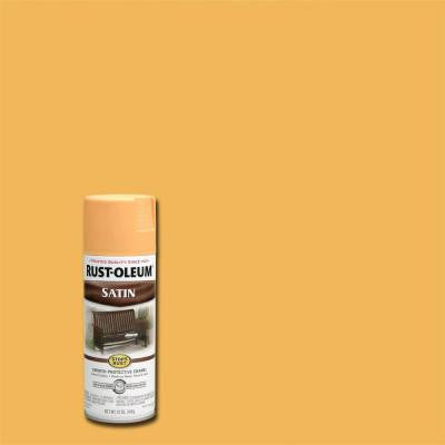 12 oz. Protective Enamel Satin Amber Spray Paint (Case of 6)