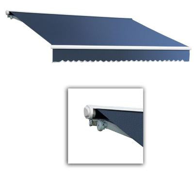 14 ft. Galveston Semi-Cassette Left Motor with Remote Retractable Awning (120 in. Projection) in Dusty Blue