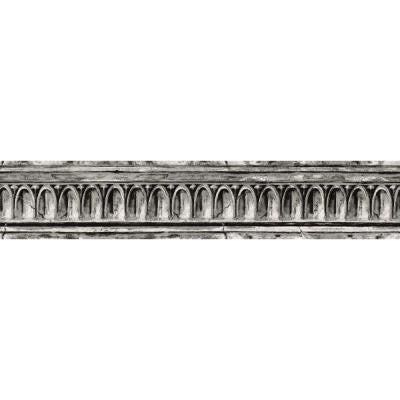 4.1 in. x 15 ft. Black and Grey Crown Molding Border