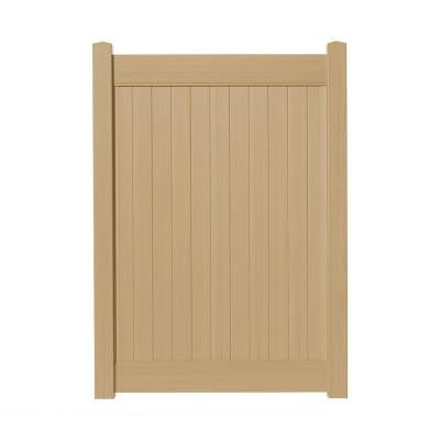 4 ft. x 6 ft. Cedar Grove Natural Cedar Vinyl Privacy Fence Gate