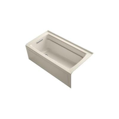 Archer 5 ft. Whirlpool Tub in Almond