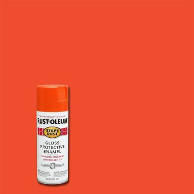 12 oz. Protective Enamel Gloss Orange Spray Paint