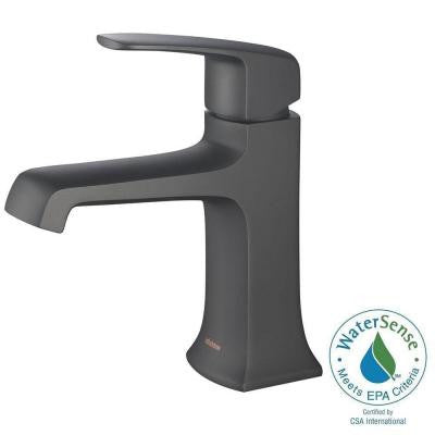 Ella Single Hole 1-Handle 1.2 GPM CALGreen Bathroom Faucet in Matte Black