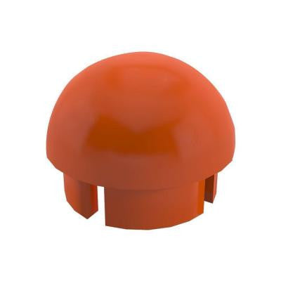 1-1/4 in. Furniture Grade PVC Internal Ball Cap in Orange (10-Pack)