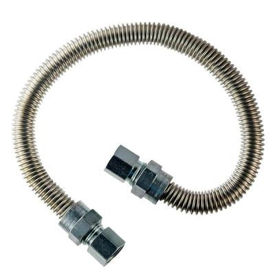 3/8 in. FIP x 1/2 in. FIP x 48 in. Stainless Steel Dryer Connector
