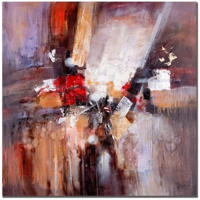 35 in. x 35 in. Cube Abstract II Canvas Art