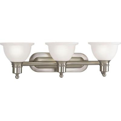 Madison Collection 3-Light Brushed Nickel Bath Light