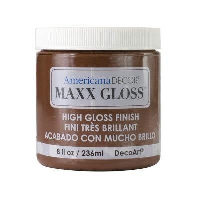 Americana Decor Maxx Gloss 8 oz. Light Molasses Paint